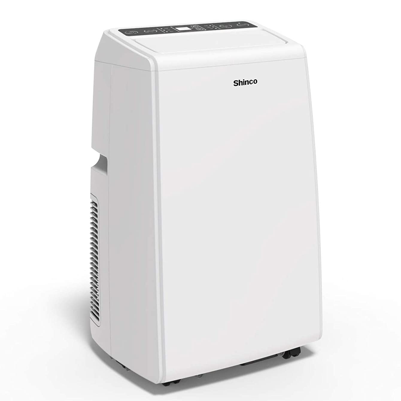 Shinco SPS5-12C 12,000 BTU Portable Air Conditioner Cool Fan Quiet Dehumidifier for Rooms Up to 400 Sq.Ft. LED Display, Remote Control, White