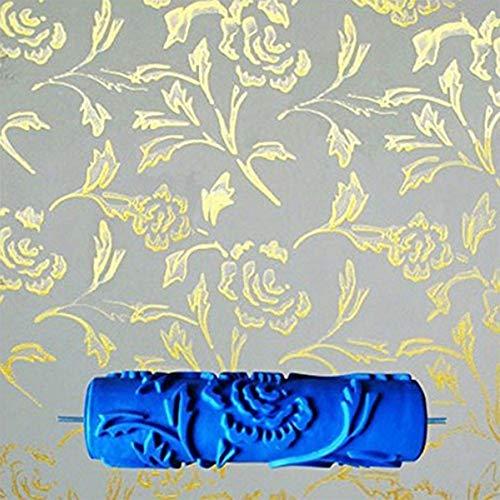 HKDJPennello da 7 Pollici Rullo di Vernice Goffrato per Strumento di Decorazione della Parete,b