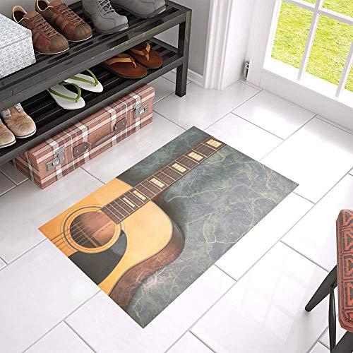 """HUJITIAN Best Door Mat Guitar Music Fan Art Non-Slip Indoor and Outdoor Welcome 23.6""""x 15.7"""" Door Mat XL Bar Floor Mats Floor Mats for Kitchen Doormat Outdoor"""