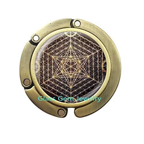 Handgefertigter Pentagramm-Handtaschenhaken, Pentagramm-Schmuck, Handarbeit Q0265