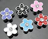 Dogs Stars, motivo per collare con nome, fiore colorato, adatto per larghezza di banda di 8 mm.