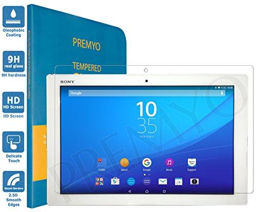 PREMYO Panzerglas Schutzglas Displayschutzfolie Folie kompatibel für Sony Z4 Tablet HD-Klar 9H Anti Kratzer Blasen Fingerabdrücke