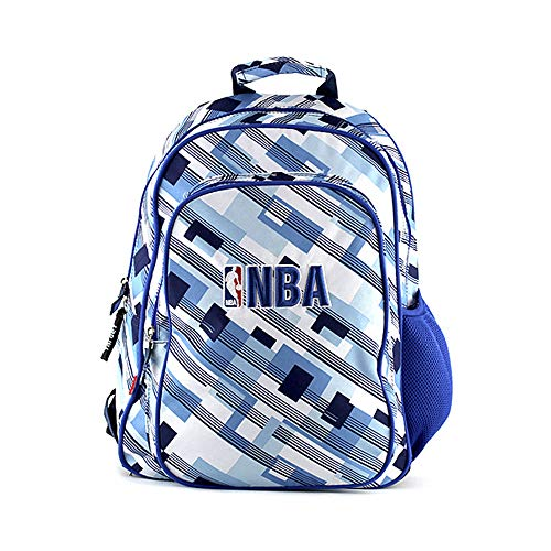 NBA Mochila Tipo Casual, 13 Litros, Color Azul/Blanco