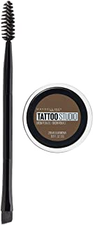 Maybelline New York Tattoostudio Brow Pomade Long Lasting, Buildable, Eyebrow Makeup, Medium Brown, 0.106 Ounce