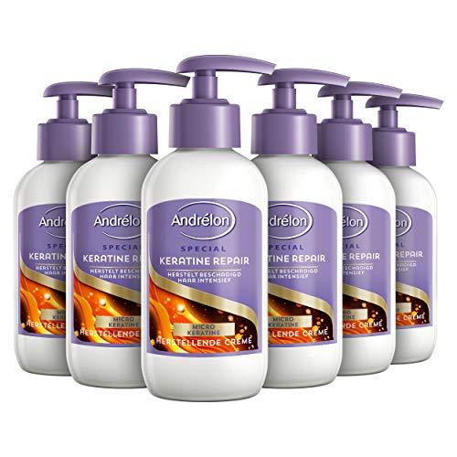Andrélon Special Haarcrème Keratine Repair voor beschadigd haar - 6 x 200ML - Voordeelverpakking