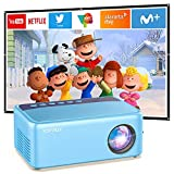 Mini Video Projector for Cartoon, Portable Outdoor Movie Projector for Kids Gifts, XOPPOX Small Home Theater Projector for Phone with HDMI USB AV Interfaces