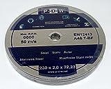 10Discos de corte Diámetro 230mm Onda Diámetro...