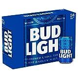 US Bier - 14 Sorten - 24 Dosen/Flaschen - Anheuser-Bush Bud Light Lime Coors Michelob Ultra Miller Genuine Draft High LifeMilwaukee Best Pabst Blue Ribbon lager (Bud Light, 24x 355ml)