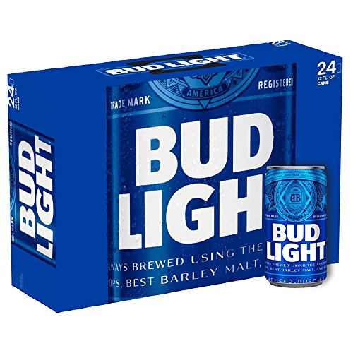 US Bier - 14 Sorten - 24 Dosen/Flaschen - Anheuser-Bush Bud Light Lime Coors Michelob Ultra Miller Genuine Draft High LifeMilwaukee Best Pabst Blue Ribbon lager (Bud Light, 24x 355ml)