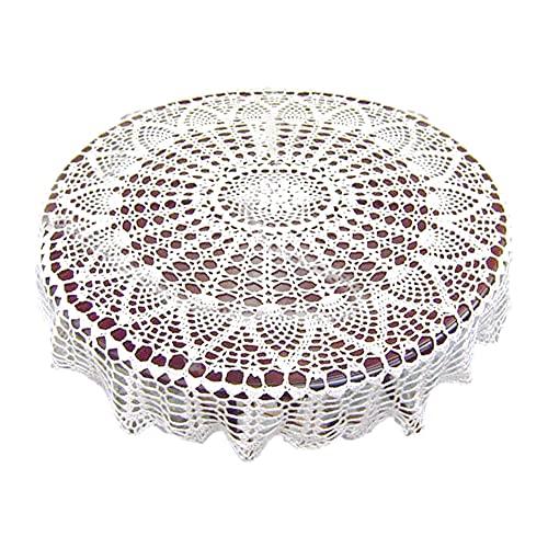 Diseño colorista puro Mesa redonda de tela a prueba de aceite e impermeable Bordado Popular Mesa de mesa Mesa de mesa Mesa de comedor redonda Home Banquete Restaurantes, banquetes ( Color : 80cm )