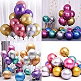 O-Kinee Globos de Fiesta de Diversos Colores, 50 Piezas Globos Metalizados para Cumpleaños, Fiestas, Bodas, Propuestas, Reuniones y Otras Celebraciones