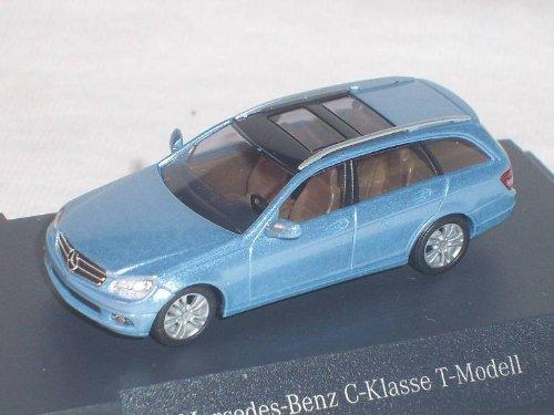 Mercedes-Benz C-klasse W204 T-modell Kombi Hell Blau Ho H0 1/87 Busch Modellauto Modell Auto SondeRangebot