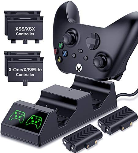 Controller Batteries Packs for Xbox Series One Controller Charging Station with 2x1200mAh Rechargeable product image