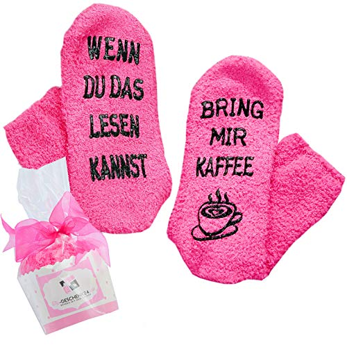 Kaffee Socken Fusselfrei Geschenk Für Frauen Zum Weihnachten Wenn Du Das Lesen Kannst Bring Mir Kaffee Geburtstagsgeschenk Für Freundin