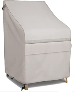 MR. COVER 26 Wide Patio Stackable Chair Cover for Outdoor Furniture, Fit for 4-6 Stackable Dining Chair, Rip-Stop and Weat...