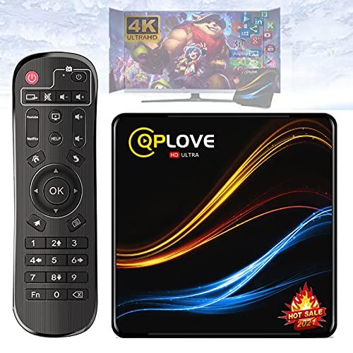 TV Box Android 11.0, QPLOVE Q9 TV Box Android 2GB RAM 16GB ROM RK3318 Supporto Quad Core 2.4G 5G Dual WiFi 4K BT 4.0 3D USB 3.0 H.265 Smart TV Box Nuovo Aggiornamento