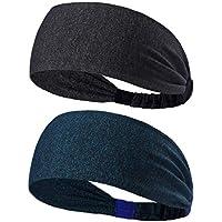 2-Pack Hmulan Yoga Sport Athletic Headband