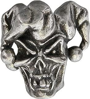 Schmuckatelli Company KJSTP Jester Skull Bead Pewter