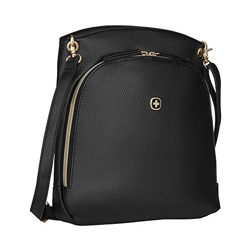 Wenger LeaSophie Messenger Bag zum Umhängen, Tablet bis 10 Zoll, 6 l, Damen Frauen, Business Uni Schule Reisen, Schwarz