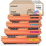 ZIPRINT 4 - Cartucho de tóner compatible con HP CF350A CF351A CF352A CF353A 130A para impresora HP Color Laserjet Pro MFP M176n M177fw (negro, cian, magenta y amarillo)