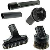 Spares2go Mini boquilla para escaleras y cepillo redondo Kit de herramientas para Nilfisk aspiradoras (32mm)
