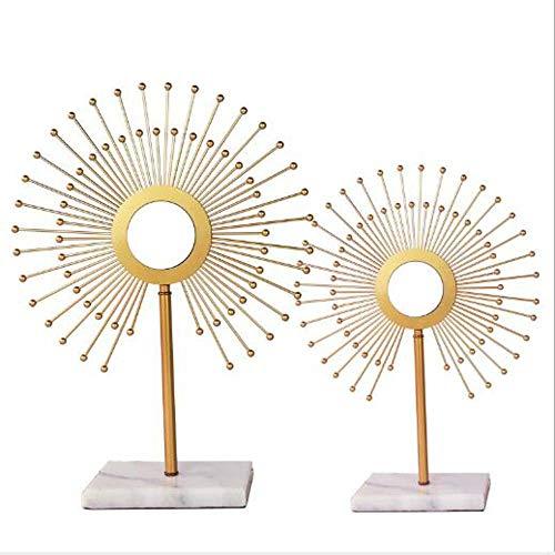 DLY De Nieuwe Chinese Huis Meubelen Woonkamer Entree Decoratieve Marmeren Basis Metalen Zonnebril Versierd Model Kamer Meubels Pretty