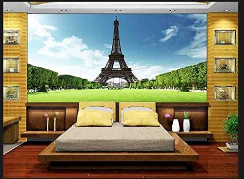 Mznm 3D Wallpaper Custom 3-D-muurschilderingen voor de Eiffeltoren in Parijs, Frankrijk Gustav Tv instelling wand bank wallpaper 280 x 200 cm.
