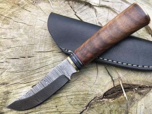 Perkin Couteau de Chasse Damas avec Fourreau Sharp SK900