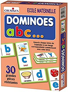 StonKraft Dominoes ABC (French) Language Independent | Preschool Learning Toys | Educational Toys | Learning Games | Match...