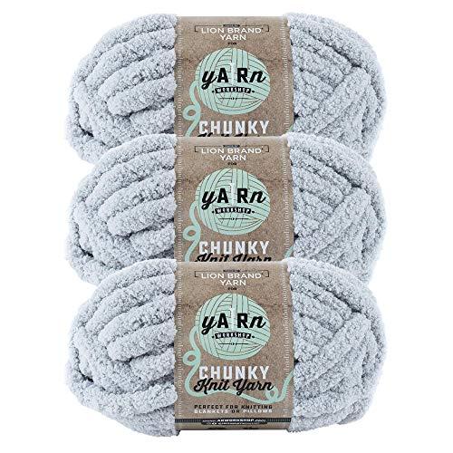 (3 Pack) Lion Brand Yarn 951-149AQ AR Workshop Chunky Knit Yarn, Willow