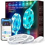 Govee 32.8ft LED Strip Lights Work with Alexa and Google Assistant Wireless Smart Phone...