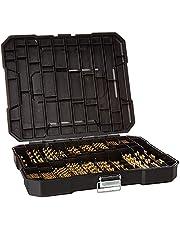Titanium Twist Drill Bit Set, High Speed Steel, Variety Size Ideal for Wood/Steel/Aluminum/Zinc Alloy, with Hard Storage