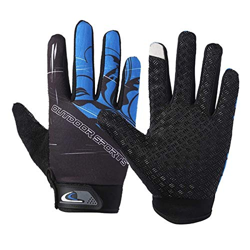 ZHJKK Outdoor Cycling Riding Gloves Anti-slip Touch Screen Motorcycle Gloves Bike Motocross Guantes Windproof (Color : 4)