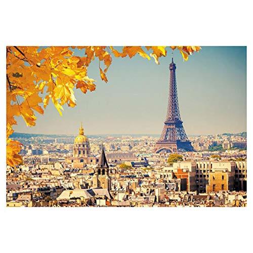 QIDI 5000 Unidades De Adult París Torre De Madera Rompecabezas Educativos Juguetes Educativos De Descompresión Famosa Pintura De Paisaje Animado De Alta Dificultad (Size : 5000 Pieces)