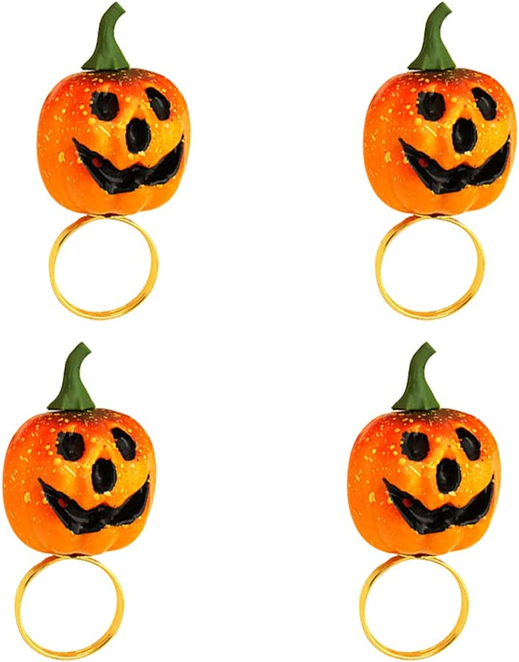LUOZZY 4Pcs Pumpkin Shaped Napkin Halloween Ring Buckle trust Max 57% OFF T
