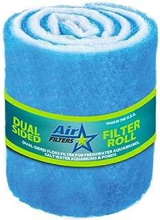 10 Feet of Blue and White Air Filter Media Roll , MERV6 Polyester Media - 25