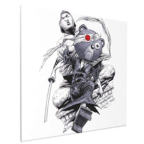FJJJ Lienzo de Arte de Pared Enmarcado Afro Samurai - Kuma Giclee Prints Artwork Pictures Modern Wall Decor for Bedroom Living Room Office Home Ready to Hang,Afro Samurai - Kuma,One Size