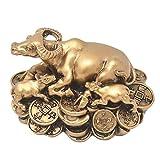 juanxian 2021 Cinese Zodiaco Anno della ricchezza Ox Fortunato Statua Figura-Pace in tutte le stagioni W4242 (001)