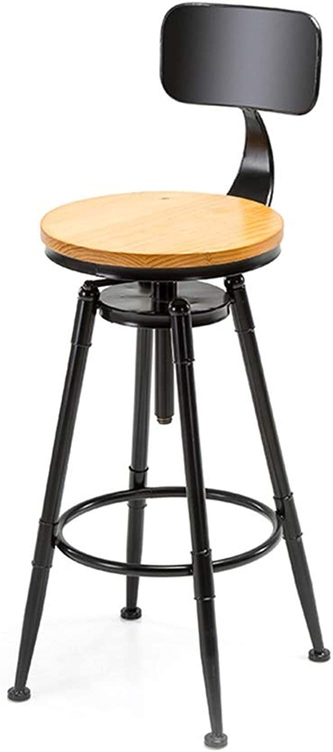 Bar Stool Metal Structure Wooden seat 78 cm Height to 200 kg