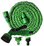 Alittle 25FT/ 50FT/ 75ft/ 100FT Expanding Garden Water Hose Pipe with 7 Function
