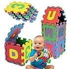 Puzzle infantil espuma EVA letras números de colores-J529052-UN MONDO DI GIOCHI