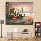 SADHAF Décor à la Maison mer Mur Bateau Mode Murale Art Photo Moderne Salon Chambre décoration Murale A3 50x70 cm