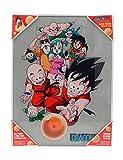 SD toys Personajes Poster De Vidrio Dragon Ball 30 x 40 Cm, Cristal Templado, Multicolor, 30x40x3