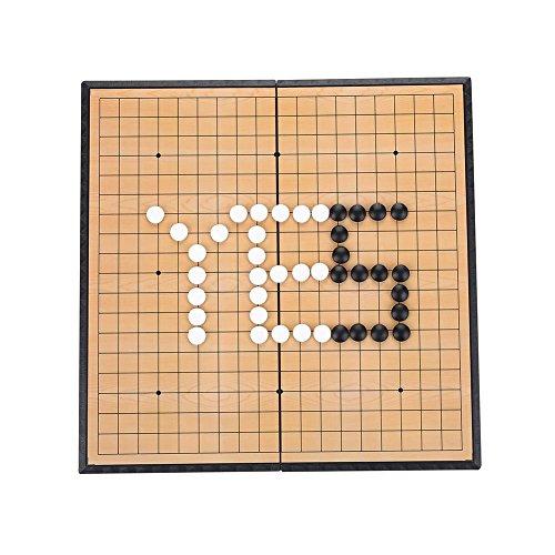 Drfeify Go Game Set, Gobang de Pliegue Magnético, Fantástico Juego Educativo de Estrategia Weiqi Board para Niños