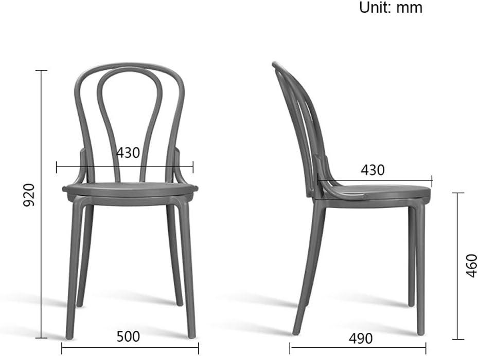 XXT Chaise de salle à manger, simple chaise de bureau, dossier créatif, chaise de loisirs, chaise de salle à manger pour adulte durable (couleur : blanc) Bleu
