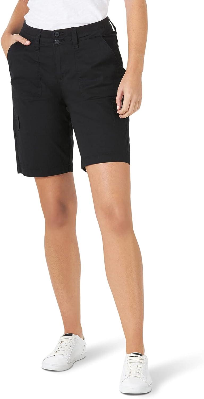 Lee Women's Missy Relaxed Fit Avey Knit Waist Cargo Bermuda Short