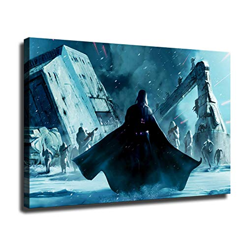 Star Wars Posters Darth Vader Collections Print Oil Paintings (24x36inch,Framed)