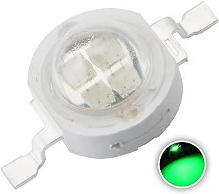 Chanzon 10 pcs High Power Led Chip 5W Green (600mA-700mA/DC 6V-7V/5 Watt) Super Bright Intensity SMD COB Light Emitter Components Diode 5 W Bulb Lamp Beads DIY Lighting