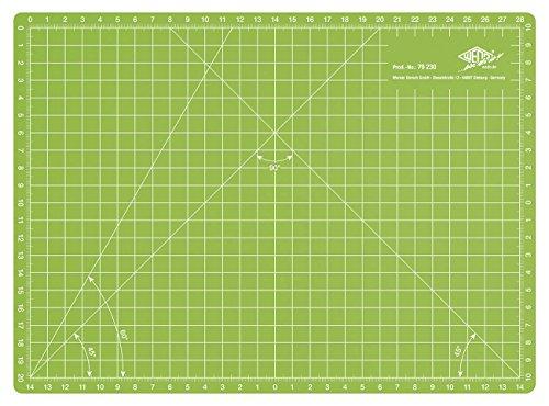 Wedo 79230Tappetino da taglio Comfort Line CM30, stampata su entrambi i lati, selbstschliessende superficie, 30x 22x 0,3cm, colore: verde mela