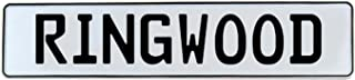 Vintage Parts 736945 Mancave Wall Art (Ringwood White Stamped Aluminum Street Sign)